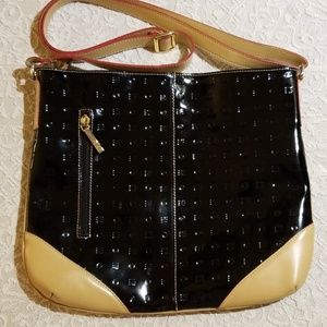 Arcadia Patent Leather Cross Body Bag